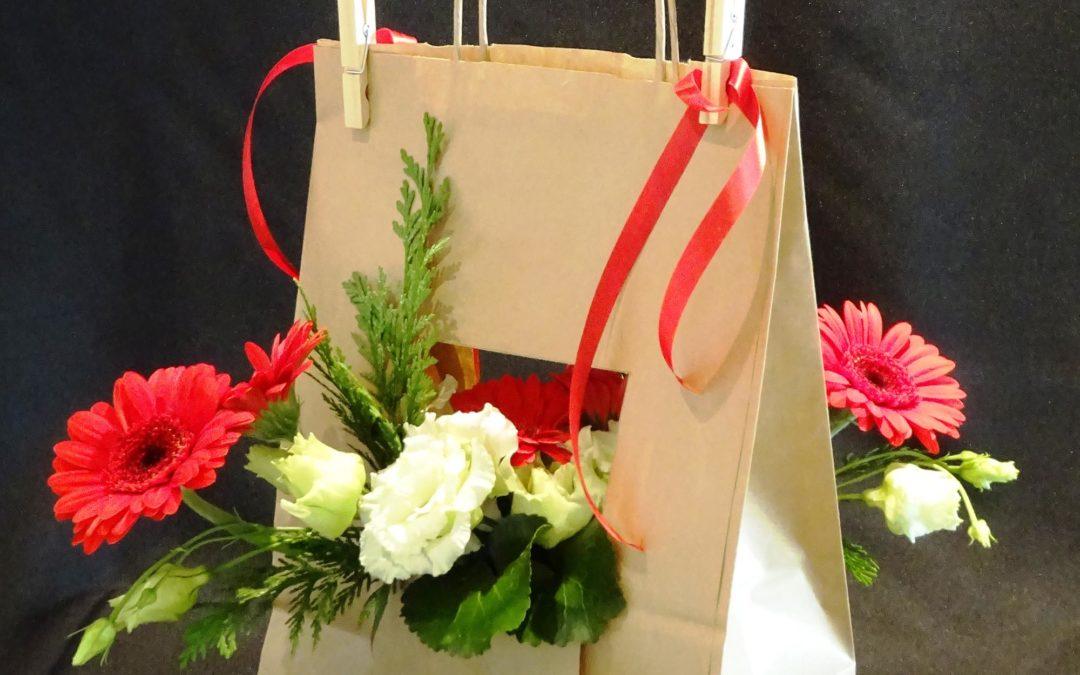 Bouquet en sac –  Nadine et Cours Perfectionnement