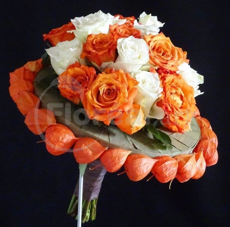 bouquet rond d'halloween